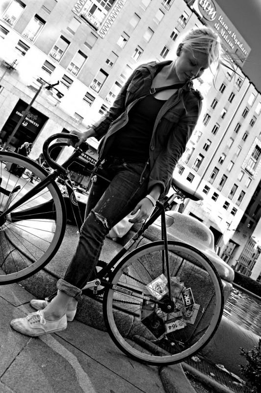 Fixed Gear Bike Girl