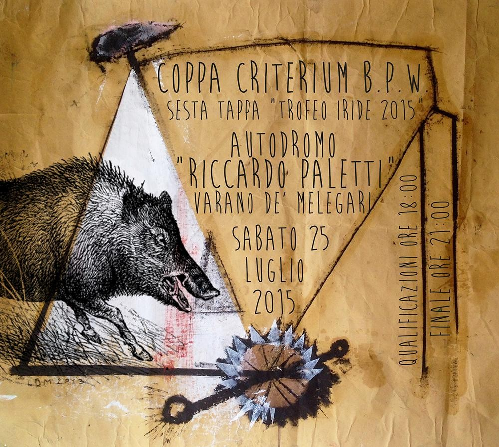LOCANDINA COPPA CRITERIUM B.P.W.