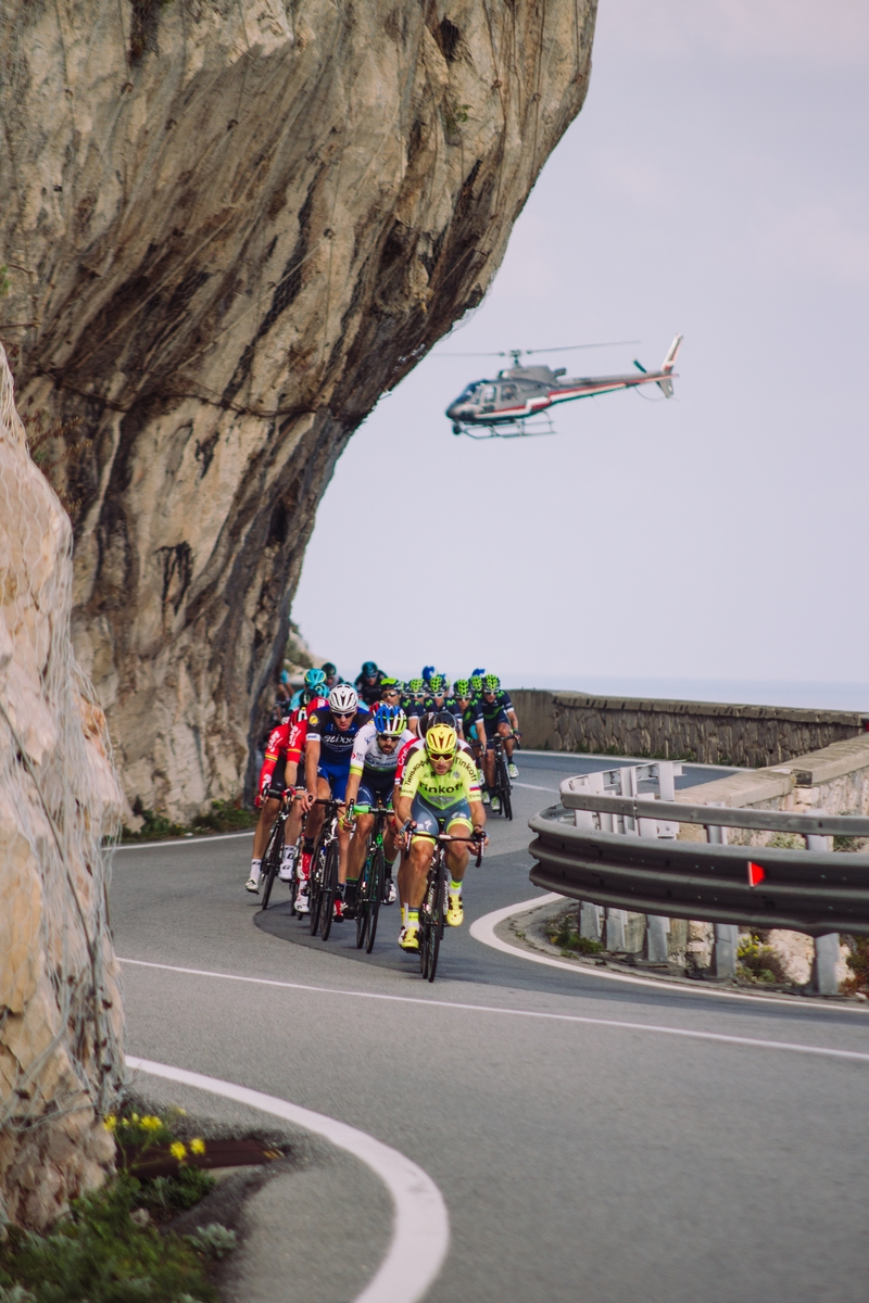 Liguria coast during the 2016 Milano Sanremo n. 107° (296km)