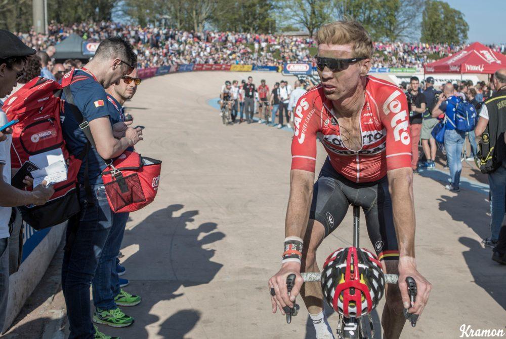 Marcel Sieberg (DEU/Lotto-Soudal) post-race 115th Paris-Roubaix 2017 (1.UWT) One day race: Compiègne > Roubaix (257km)
