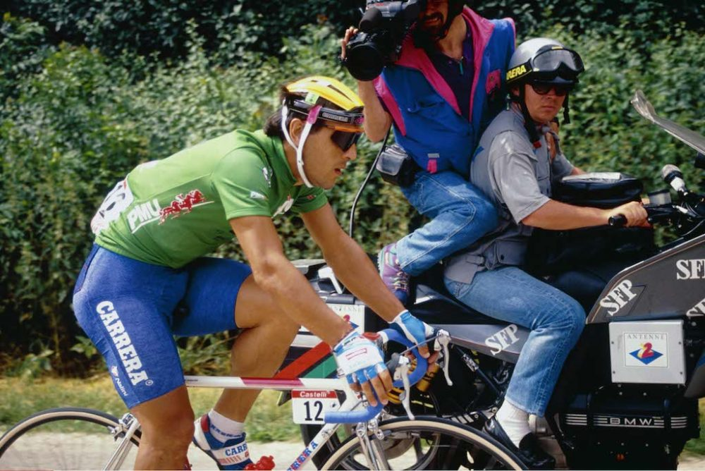 "9/7/1991 Tour de France 1991. Stage 4 - Dijon to Reims. Djamolidine Abdoujaparov. Photo: Offside / L""Equipe."